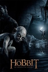 The Hobbit Ringbearers Gollum and Bilbo Tolkien Movie Poster