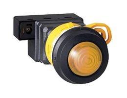 LED Panel Mount Indicator, Amber, 24 V, 30 mm, IP20