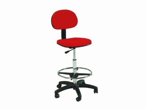 Martin Stiletto Drafting Height Chair Seating in Red