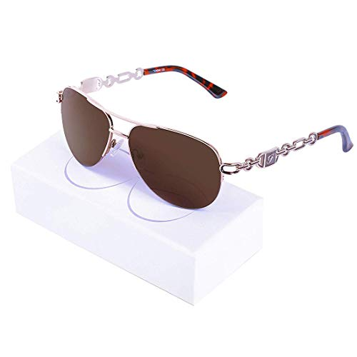 Aviator Sunglasses For Women Metal Frame Mirrored Sunglasses ()