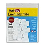 - Laser Printable Index Tabs, 1 1/8 Inch, White, 100/Pack