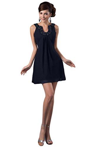 Vestito Abito A Mini Avril Una Senza Maniche Ritorno Eleganti Linea Cocktaii Abito Navy Scuro Casa Di Blu tWrgTtO