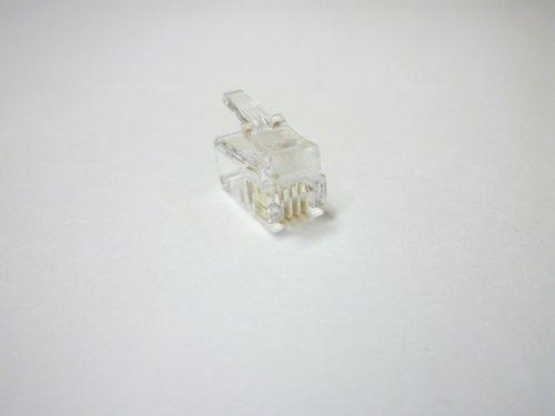 [해외]스카이 니 4 극 4 코어 모듈 마 개 10 개입 MP-4CS / Skyney 4-pole 4-core modular plug 10 pcs MP-4CS