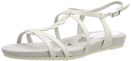 Tamaris Women's 28602 Sling Back Sandals White (White Matt) nIJ3lY