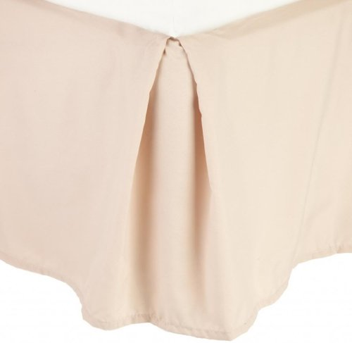 Clara Clark Premier 1800 Collection Solid Bed Skirt Dust Ruffle, King, Beige Cream (Skirt Bed Beige)