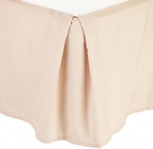 Clara Clark Premier 1800 Collection Solid Bed Skirt Dust Ruffle, King, Beige Cream (Bed Skirt Beige)