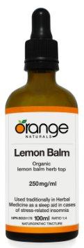 Lemon Balm 250mg/ml tincture  Brand: Orange Naturals