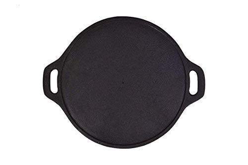 Rock Tawa Dosa Tawa 14 Inch Pre-Seasoned Cast Iron Skillet