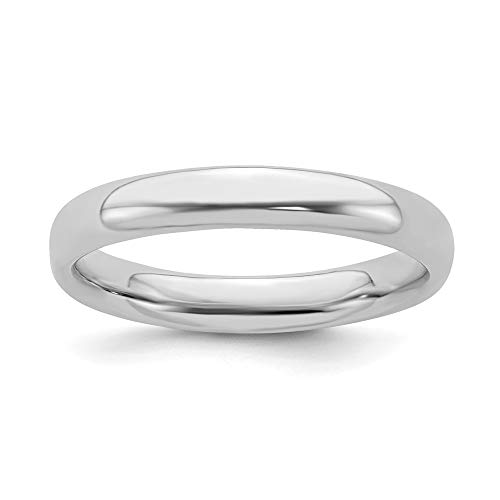 925 Sterling Silver Band Ring Size 5.00 Stackable Smooth Fine Jewelry Gifts For Women For Her -