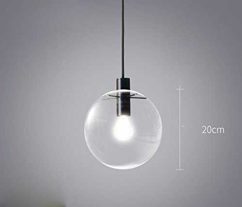DEN Nordic modern minimalist creative personality tea clothing shop bubble glass ball chandeliers,A,20CM by DEN