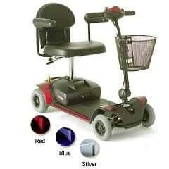 Go-Go Elite Traveller 4-Wheel Travel Scooter - Blue