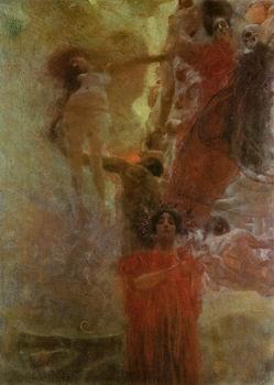 Gustav Klimt Abstract Canvas - 12X16 inch Gustav Klimt Abstract Nude Canvas Art RePro Medicine