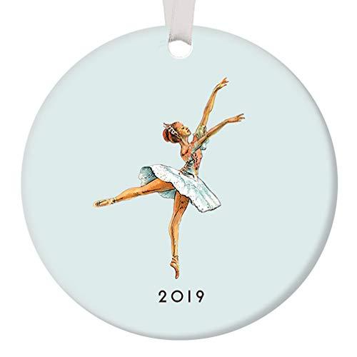 Ballerina Ornament Christmas 2019 Nutcracker Dance Pretty Pastel Blue Sugarplum Fairy Ballet Dancer Ceramic Dancing Keepsake Holiday Gift Idea 3