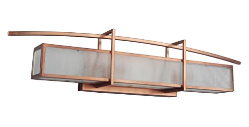 Litex Industries LTX46001BCPCO Litex 3 Light Vanity, Brushed Copper