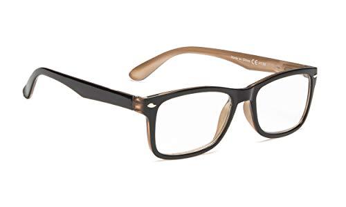 Classic Vintage Style Reading Glasses Women Men (Black/Brown, ()