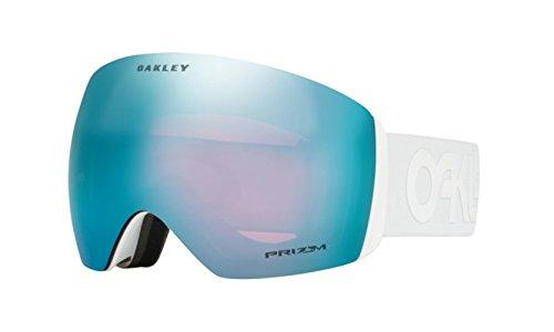 Oakley OO7050-37 Men's Flight Deck Snow Goggles, Matte White, Prizm Sapphire Iridium, Large