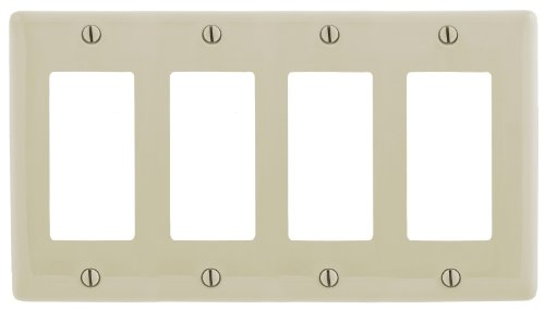(Bryant Electric NP264AL 4-Gang 4 Decorator/GFCI Wall Plate, Almond)