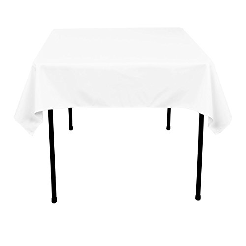 - LinenTablecloth 54-Inch Square Polyester Tablecloth White