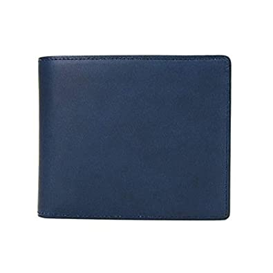 b2d6cc170f54 Amazon | [アスメデル] 二つ折り財布 藍染めレザー 日本の革 本革 日本製 NAVY ネイビー NAVY | ASUMEDERU(アスメデル)  | 財布