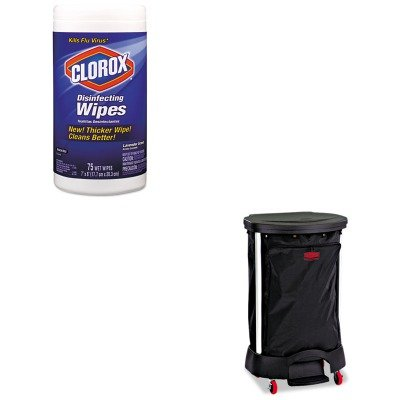 KITCOX01761EARCP6350BLA - Value Kit - Linen Hamper Bag, 30 Gallon (RCP6350BLA) and Clorox Disinfecting Wipes ()