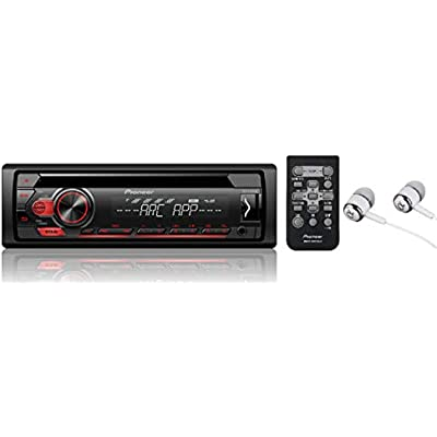 Pioneer DEH-150MP RDS Tuner with WMA MP3 playback and front illuminated Aux-In
