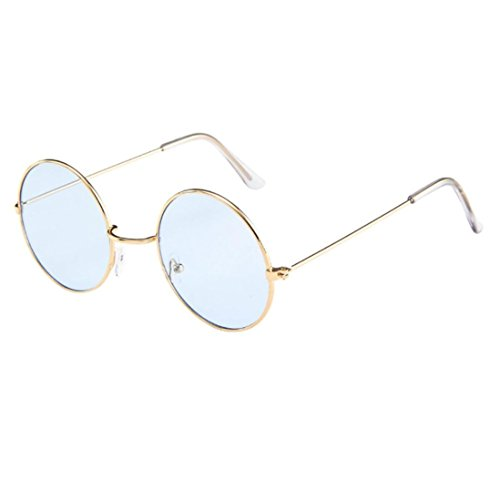Women Men Vintage Retro Glasses Unisex Fashion Circle Frame Sunglasses By ()