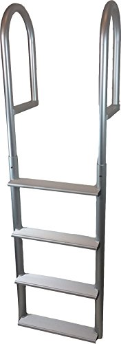 RecPro Marine ADL-A4W 4 STEP STATIONARY STRAIGHT DOCK BOAT LADDER 20
