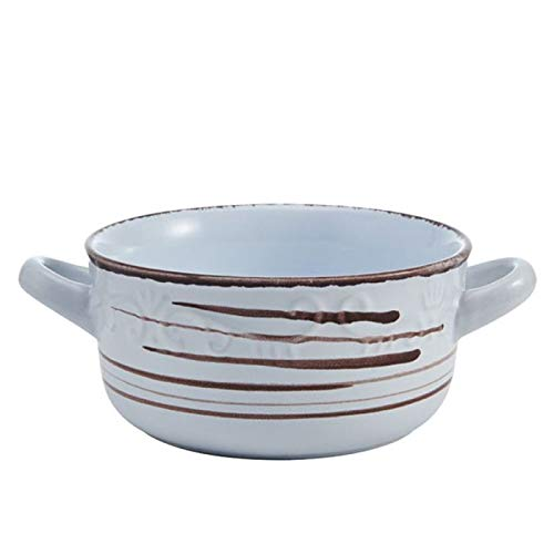 Pfaltzgraff Trellis White Double Handled Soup Bowl, 26-Ounce