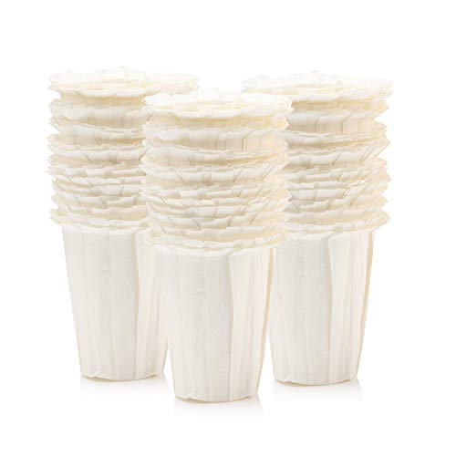BRBHOM Disposable Filters Paper K Carafe Filter For Large Cups K Carafe 2.0 Compatible Paper(200 Filters) (White)