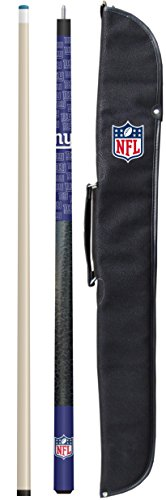 """Imperial Officially Licensed NFL Merchandise: 57"""" 2-Piece Billiard/Pool Cue with Soft Case, New York Giants"""