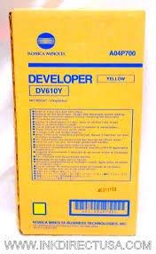 ne Brand Name, OEM DV610Y (DV-610Y) Yellow Developer Unit (200K YLD) (AKA A04P700) (Yellow Developer Unit Cartridge)