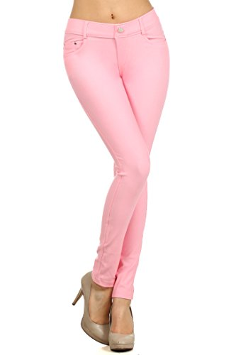7b6601615bec6 ICONOFLASH Women s Stretch Jeggings - Slimming Cotton Pull On Jean ...