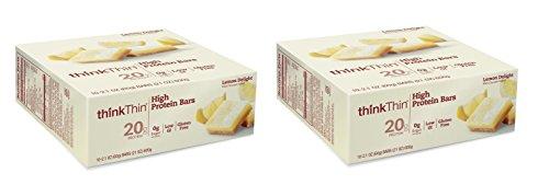 Think Thin 20 Pack (2 X Box of 10)- (Lemon (Lemon Thins)