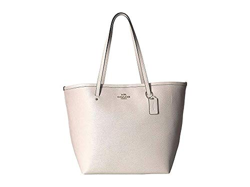 COACH Women's Crossgrain Large Street Tote Chalk One Size