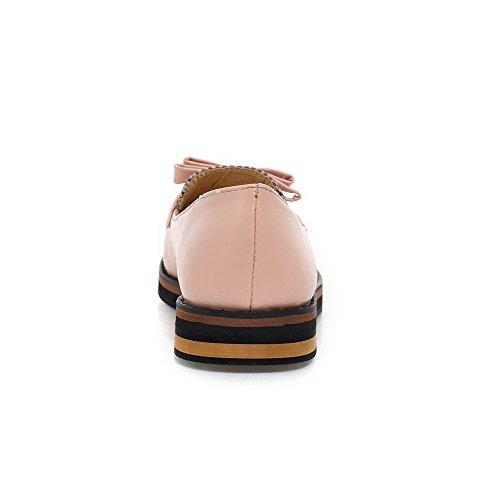 AllhqFashion Mujer Puntera Cerrada Puntera en Punta Mini Tacón Material Suave Sin cordones De salón Rosa