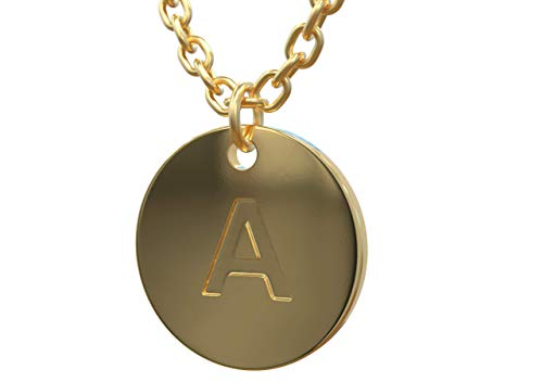 18K Gold Initial Pendant Necklace for Women - Double Layered Adjustable Chain 16-18 - Simple Small Gold Filled Letter Choker Necklaces Charm for Girls with 5 Extenders
