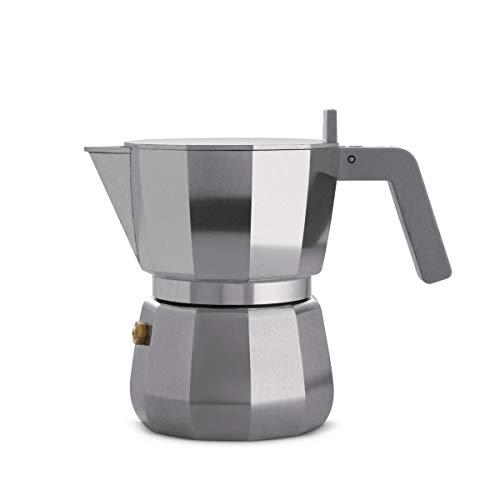 Alessi Coffee - Alessi Espresso Coffee Maker in Aluminium Casting. Handle and knob in PA, Grey. 3 Cup.
