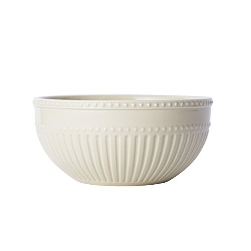 Mikasa Italian Countryside Accents Soup/Cereal Bowl, Scroll Beige - Italian Countryside Soup Bowl