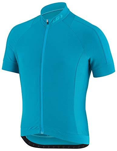 Louis Garneau Men's Lemmon 2 Lightweight, Short Sleeve, Full Zip Cycling Jersey, Blue Jewel, X-Large ()