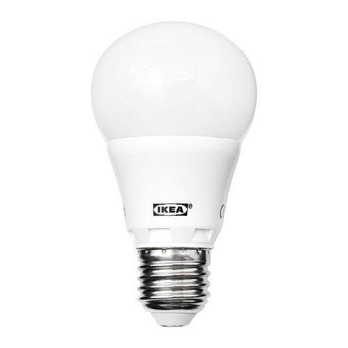 IKEA LEDARE LED Lampe E27; rund; in opalweiß; 400 Lumen: Amazon.de ...