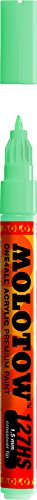 Molotow ONE4ALL Acrylic Paint Marker, 1.5mm, Lago Blue Pastel, 1 Each (127.415)