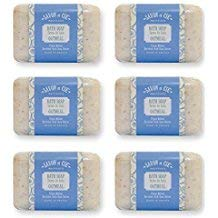 Savon et Cie Triple Milled Exfoliating Oatmeal Soap enriched with Organic Shea Butter | Vegetable Based | Natural French Bath Soap (6 Bars)