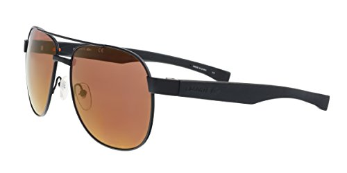 Lacoste Men's L186s Aviator Sunglasses, Black Matte, 57 - Mens Sunglasses 2017 Trends