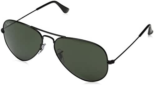 Ray-Ban Unisex-Adult Aviator Large Metal 0RB3025 Polarized Aviator Sunglasses