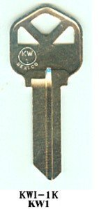 KW1 Kwikset Nickel Key Blanks Box 250 by JMA