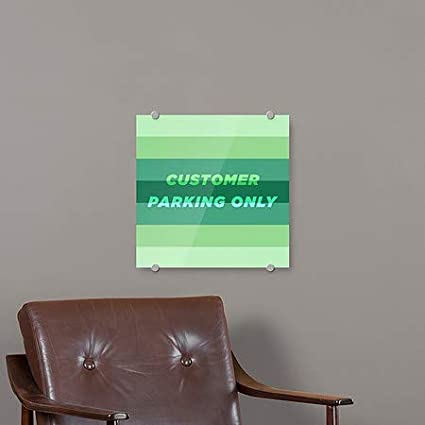 Modern Gradient Premium Acrylic Sign Customer Parking Only 5-Pack 16x16 CGSignLab