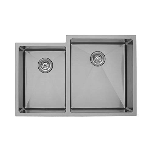 - Elite EL-78 Small/Large Double Undermount Bowl