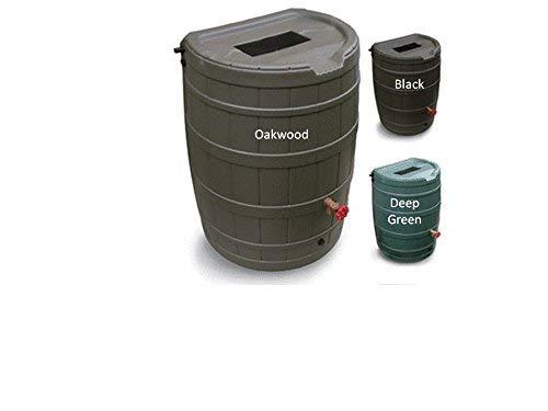 Flat Back Rain Barrel- 50 Gallon Green ()