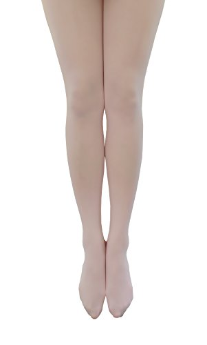 [NovaLava] Womens Semi Opaque 80 Denier Footed Pantyhose Tights Pink, One Size