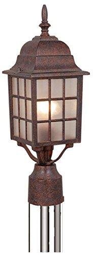 Vaxcel USA OP36765RBZ Vista 1 Light Mission Outdoor Post Lamp Lighting Fixture in Bronze, Glass by Vaxcel   B004BU8IZO